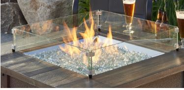 Glass guard for square Sierra fire table