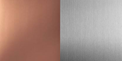 Choose between copper or stainless steel for your scuppers