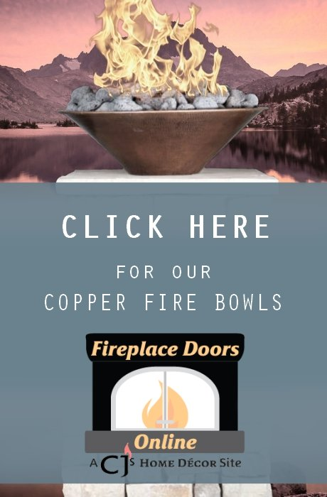 Custom copper bowls are now on our main website, Fireplace Doors Online.