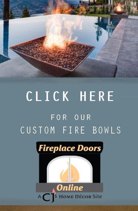 Custom fire bowls now on Fireplace Doors Online