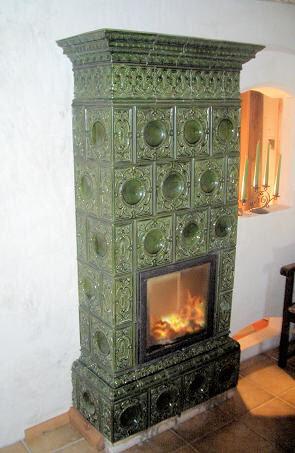 1950s Kachelofen tile wood stove