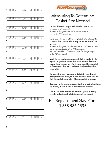 Measure to determine the gasket size you'll need. Template