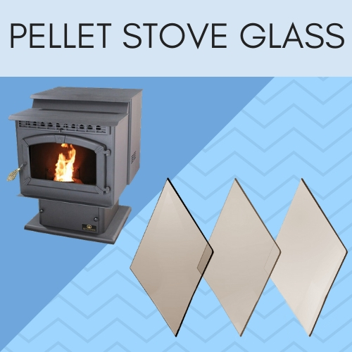Ceramic pellet stove glass