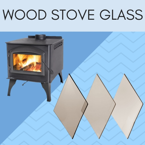 Ceramic wood stove glass