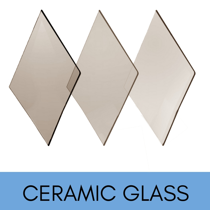 Ceramic replacement heat resistant glass