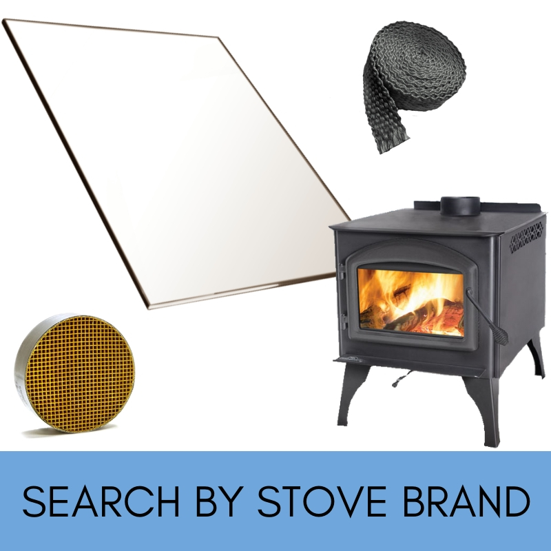 Search for replacement glass by stove brand!