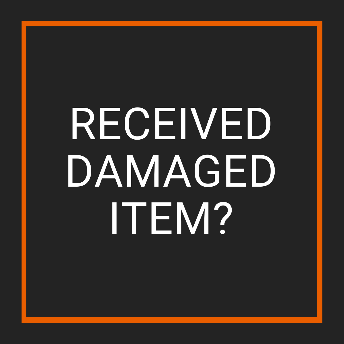 Damaged Item Returns - Fast Replacement Glass