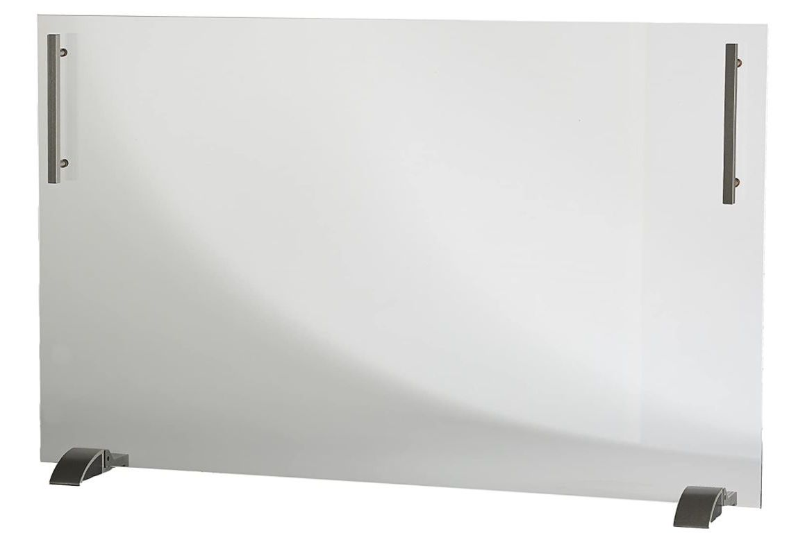 Delia Clear Tempered Glass Fireplace Screen