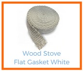 Shop White Wood Stove Flat Gasket!