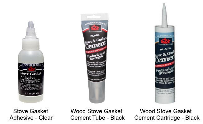 Remember to get gasket adhesive or cement for your wood stove gasket!