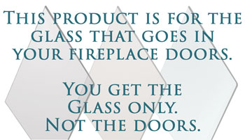 This product is for TEMPERED GLASS.  You do not get a fireplace door with it.