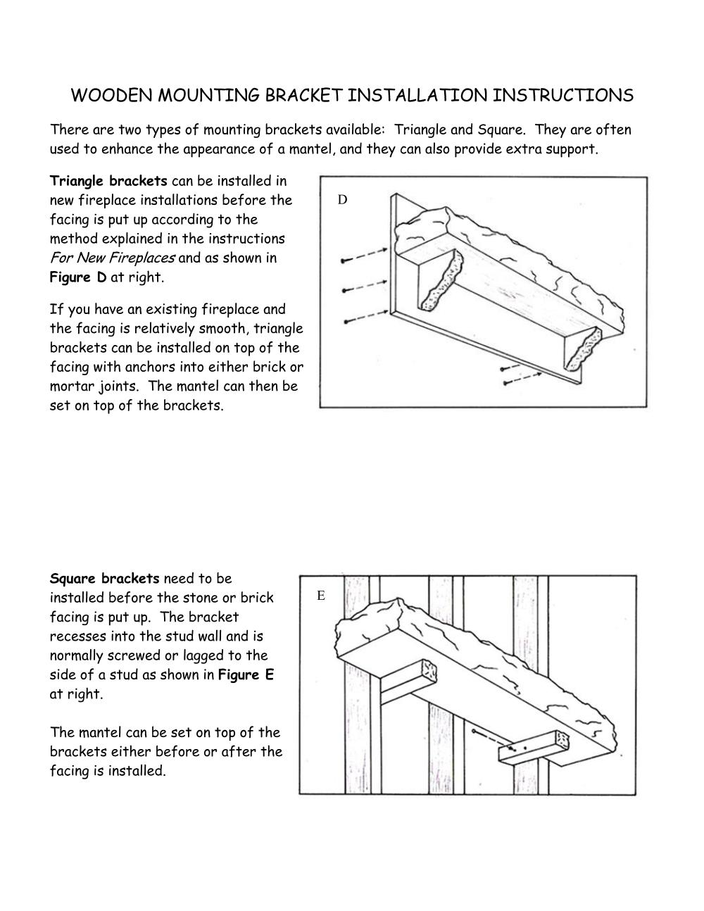 Page 3 of the log mantel installation instructions