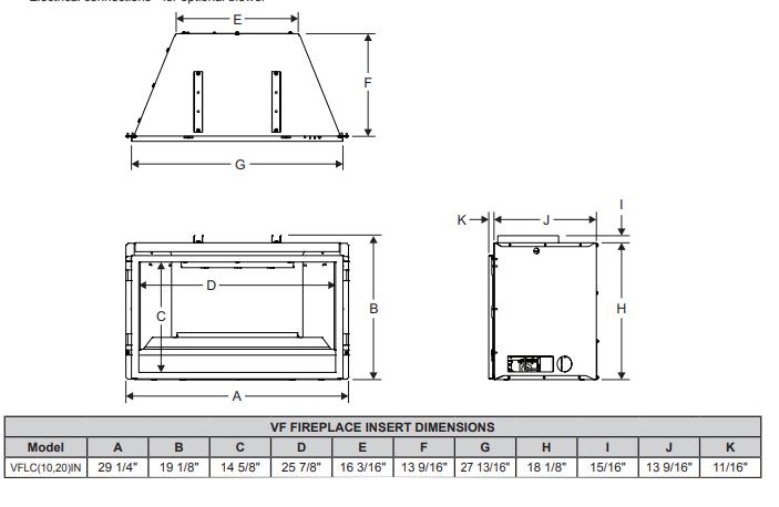 28 Inch Loft Medium Vent Free Gas Fireplace Insert 3 Sided