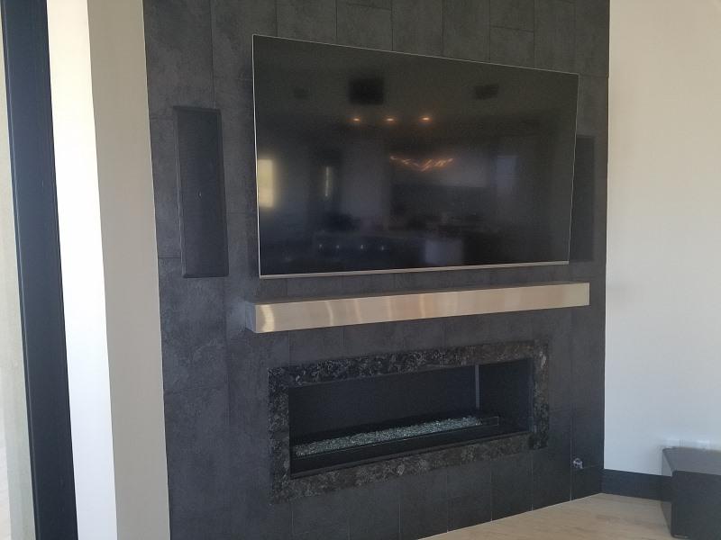 Modern Fireplace Mantel Shelf In, Stainless Steel Fireplace Mantel