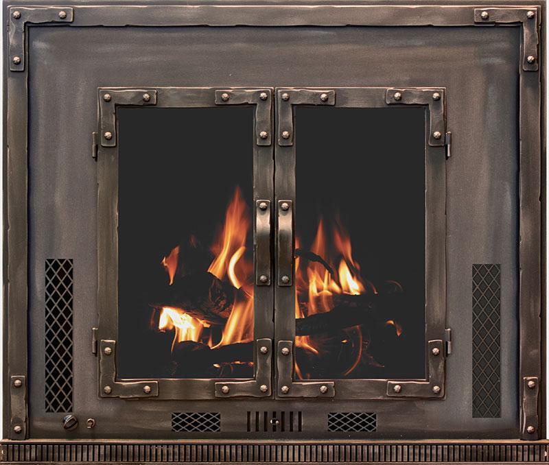 Chesapeake Wood Burning Fireplace Insert With Blower And Ceramic Glass