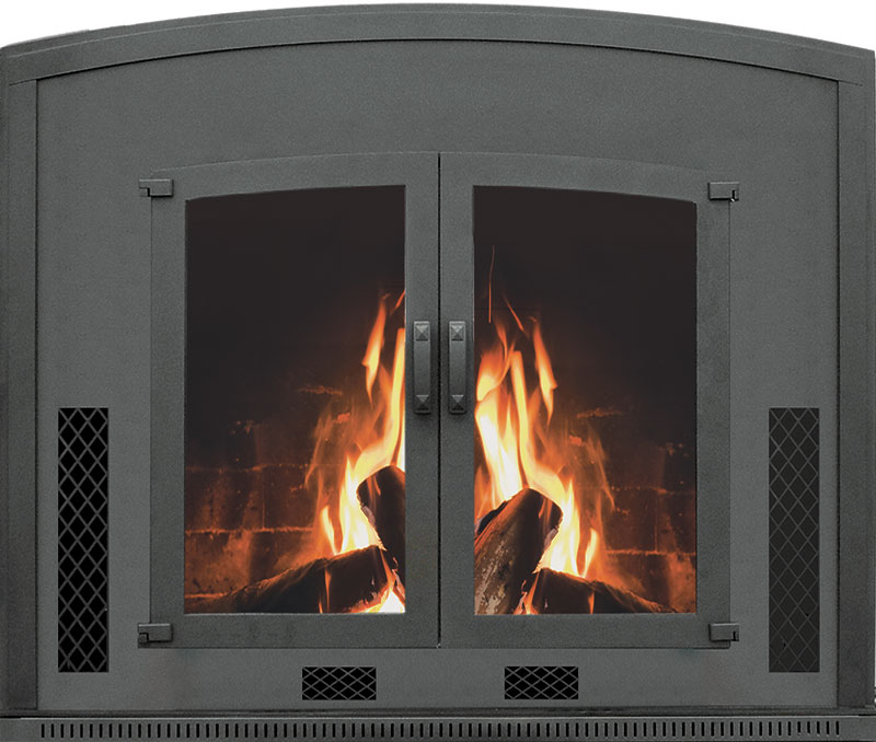 Olympic Ceramic Glass Wood Burning Fireplace Insert And Blower