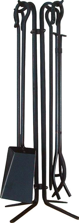 This beautiful brass fireplace tool set would look great with just about any fireplace door!