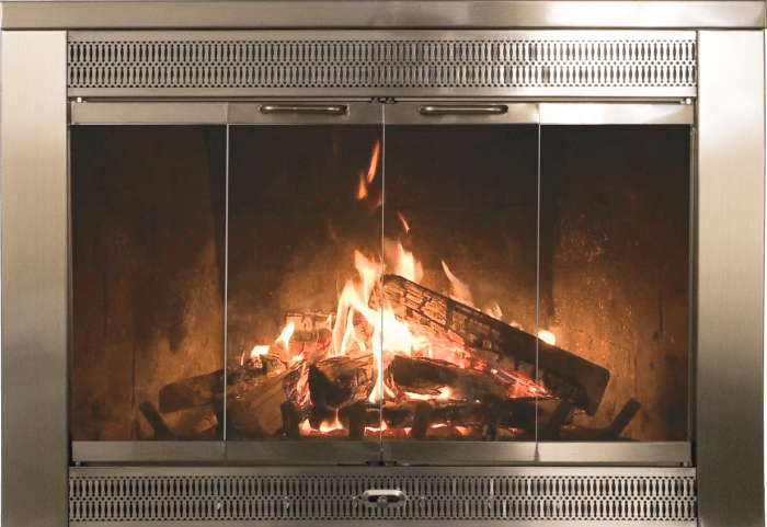 Awesome Regal Masonry Fireplace Door In Antique Brass By Thermo Rite Download Free Architecture Designs Scobabritishbridgeorg