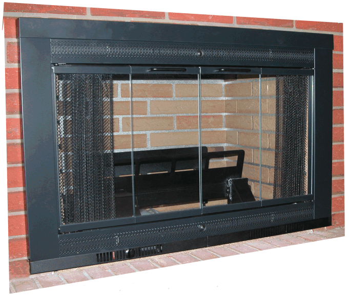 Hearthfire Fireplace Door With Grate Heater - Fireplace Door With Grate Heater