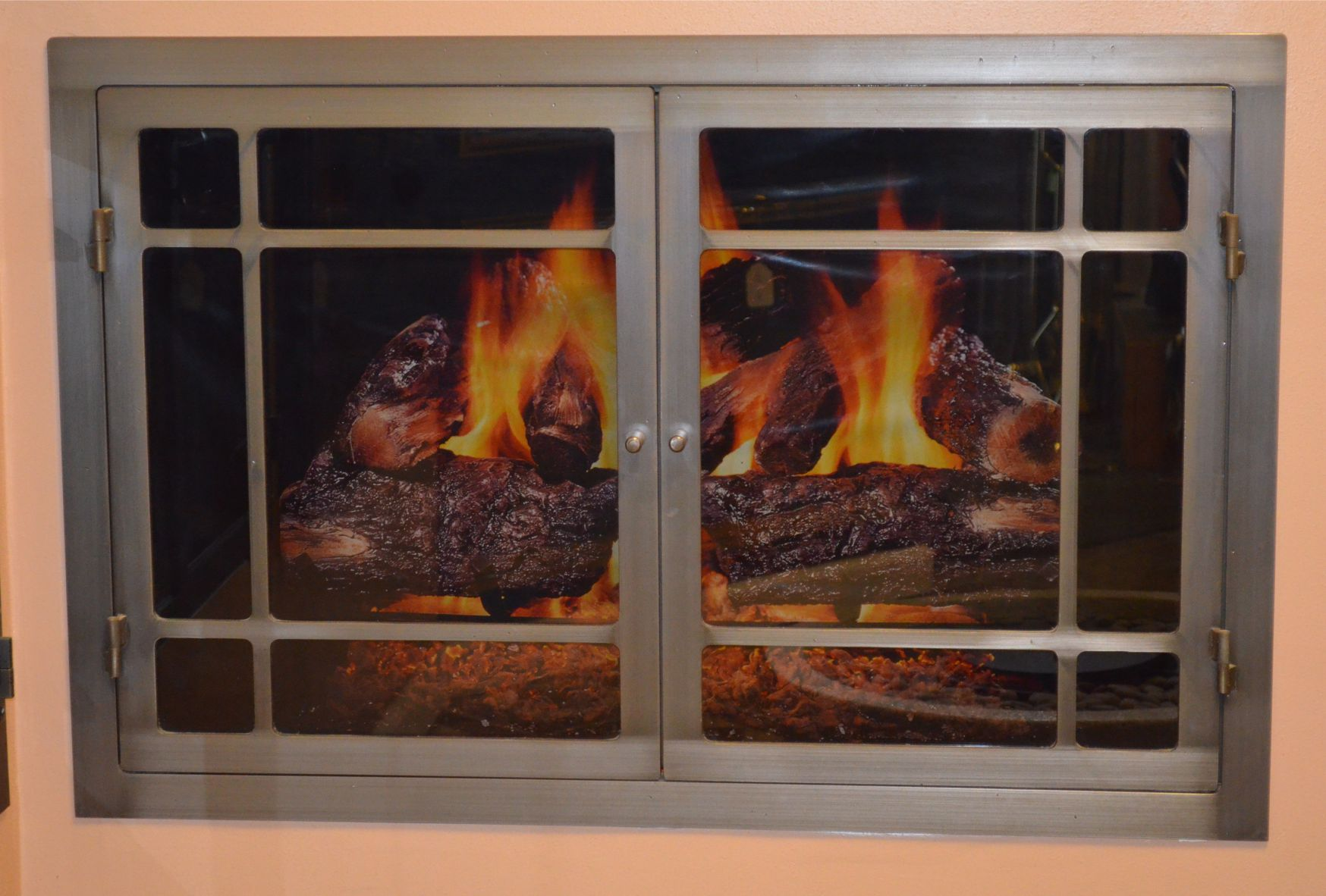 Hearthworks Fireplace Door In Natural Iron Finish 37x24 Inch
