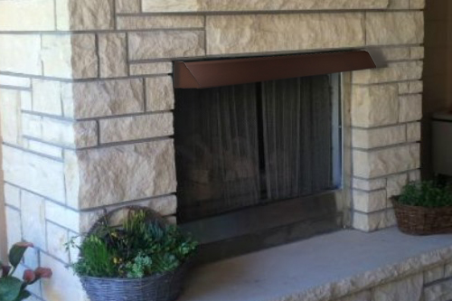 39 Quot Weathered Brown Fireplace Hood
