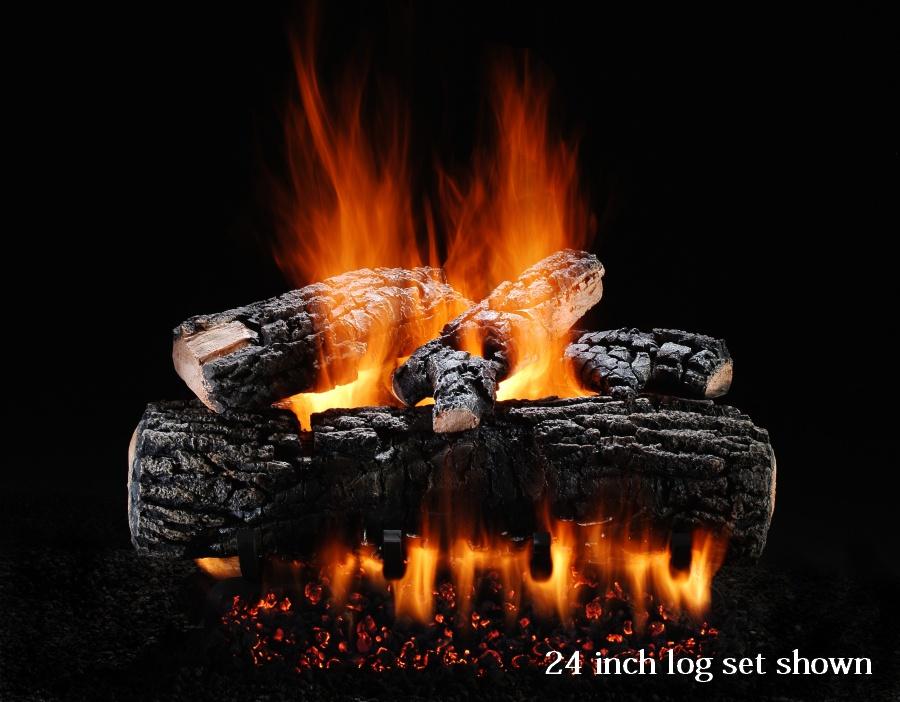 Empire Gas Logs Blazing Pecan Vented Gas Fireplace Logs