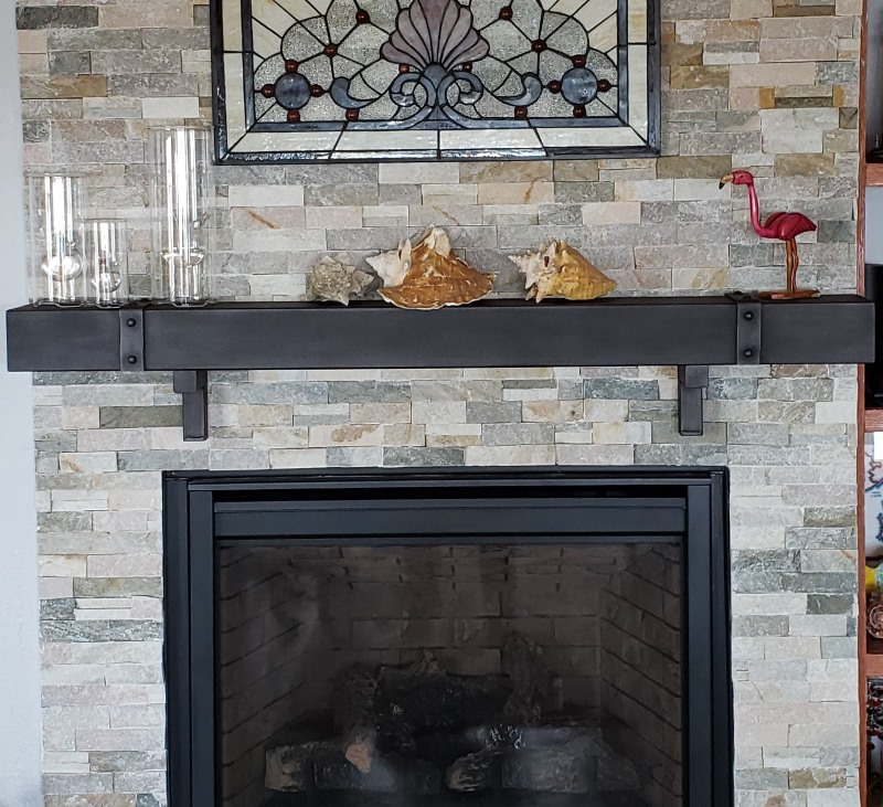 Chesapeake Old World Banding Steel, Stainless Steel Fireplace Mantel