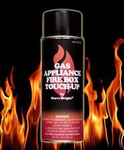 Satin Black Gas Appliance Fire Box Spray Paint