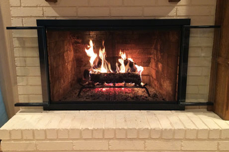 Brookfield Glass Fireplace Door For Masonry Fireplaces