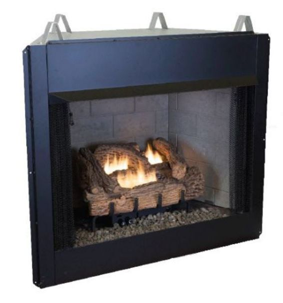 Groovy 36 Inch Vent Free Firebox Withpalmetto Oak Gas Log Set Home Interior And Landscaping Ologienasavecom