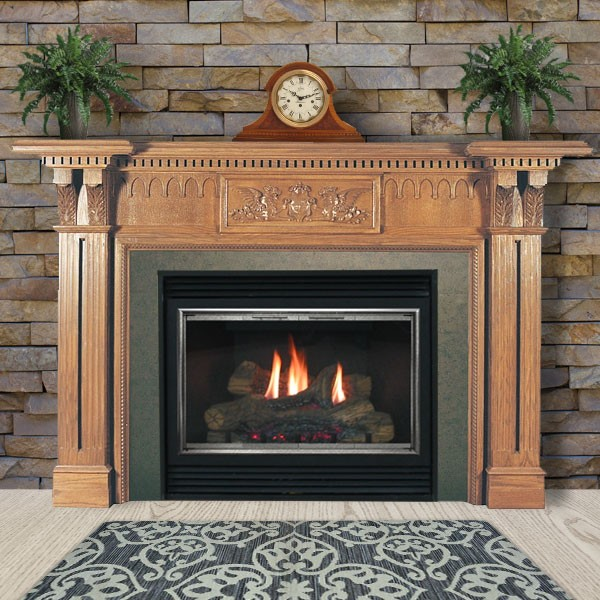 Pearl Mantels Avondale Fireplace Surround: Avondale Natural Wood Mantels For Fireplaces