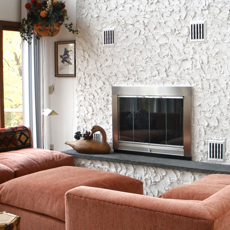Real Customer Photo! Slimline Fireplace Door