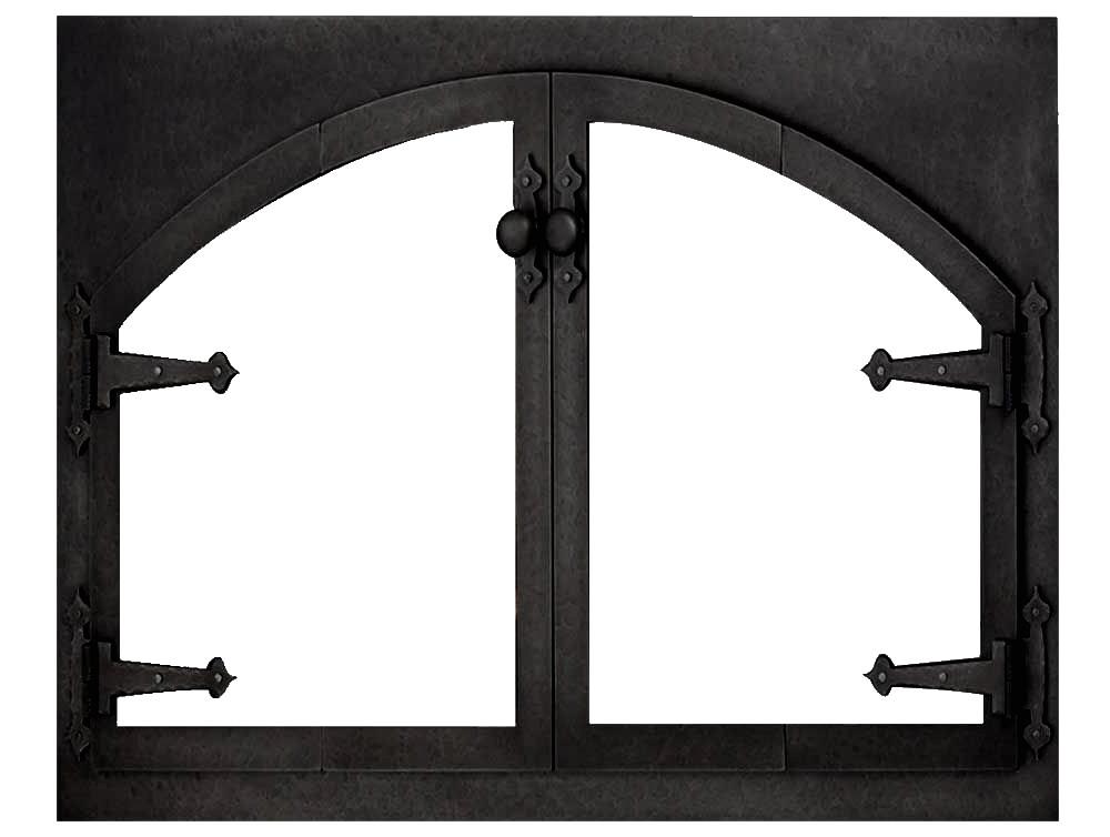 Blacksmith Arch Conversion Prefab Steel Fireplace Door