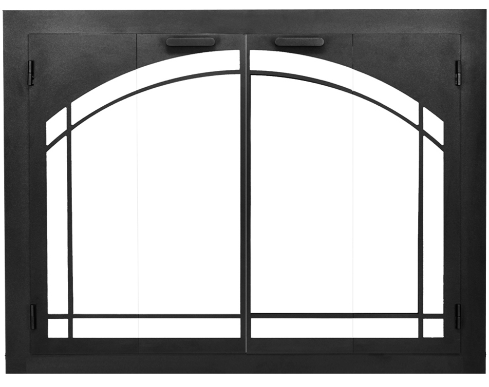 The Carolina arch conversion fireplace door is perfect if you want an arched fireplace, but you don't want to spend $5,000+ for a contractor!
