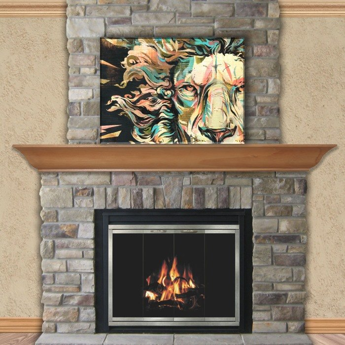Shiloh Zero Clearance Fireplace Door 4 Sided Overlap Fit
