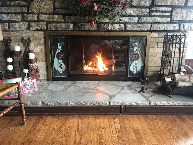 Pelham Zero Clearance Fireplace Door installed in a customer's home