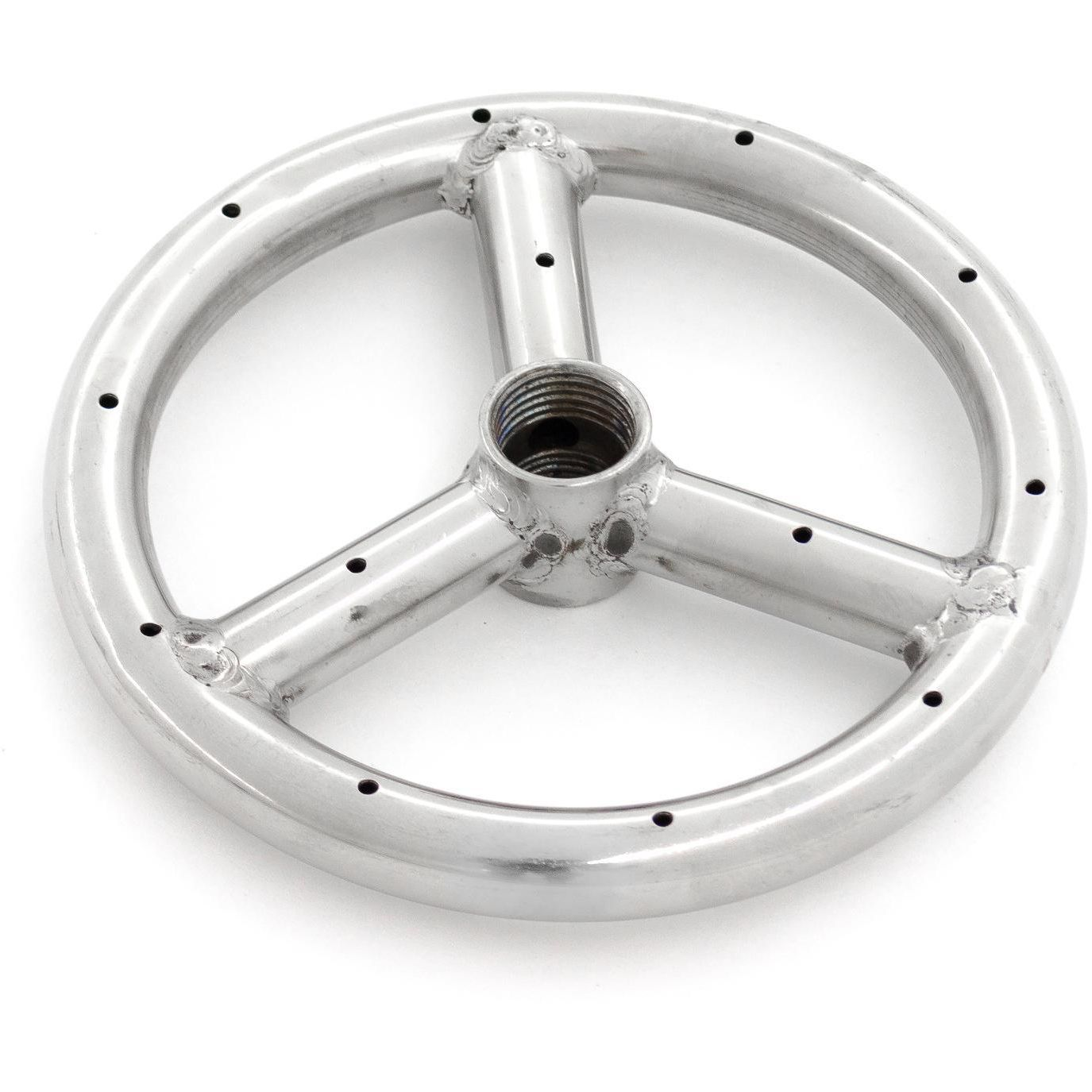 6 Inch Round Fire Pit Burner Ring Stainless Steel