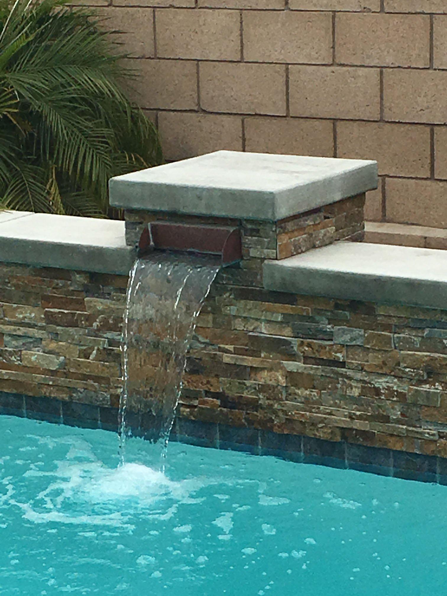 Radius Pool Scupper 12 Inch Wide