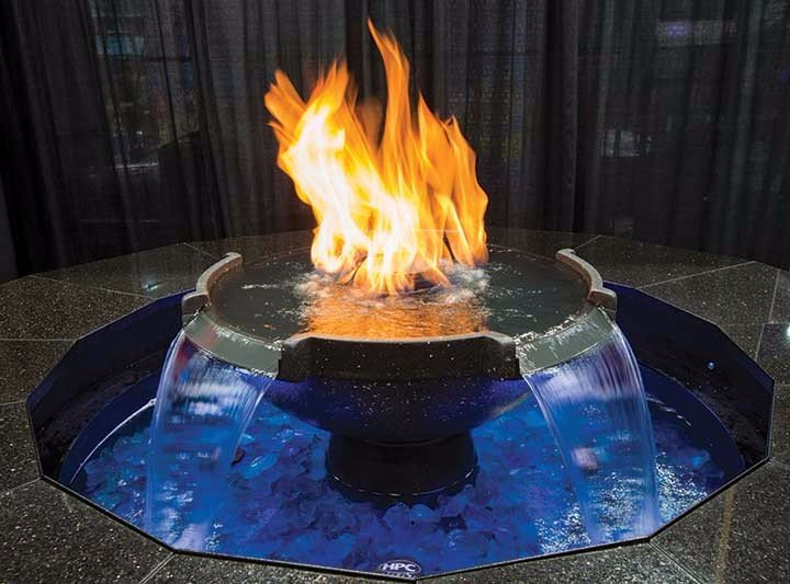 H2Onfire Monaco Fire On Water Fountain
