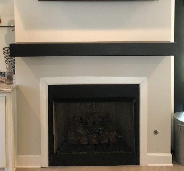 48 Inch Steel Mantel Shelf For, Black Steel Fireplace Surround