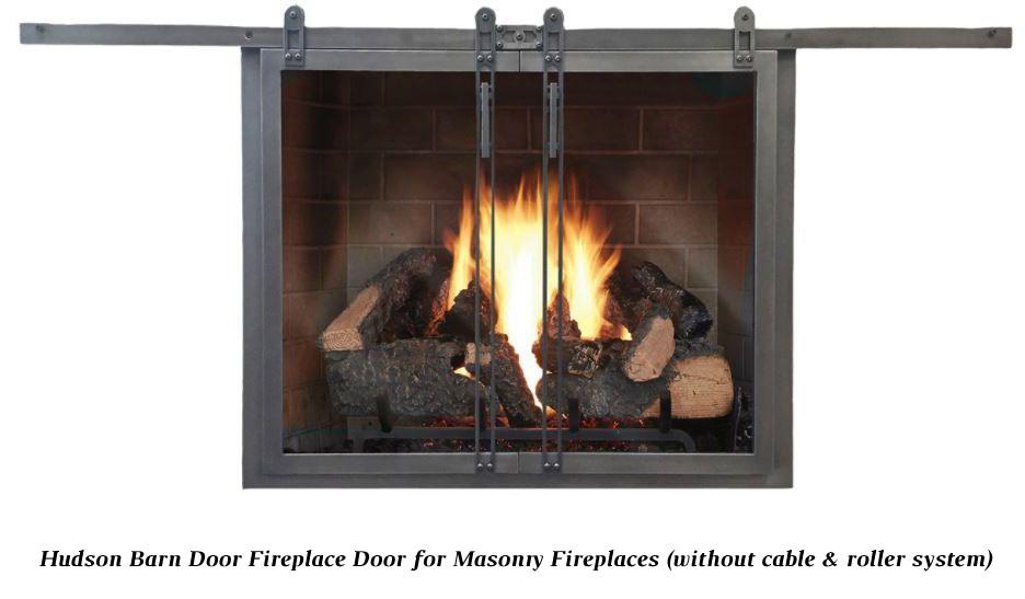 Hudson Glass Fireplace Door Overlap Fit Design Specialties