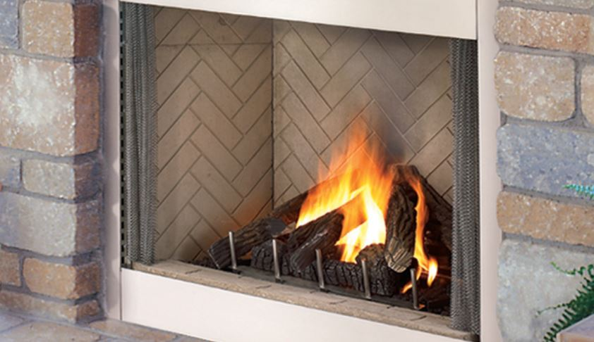 Vent Free Outdoor Gas Burning Fireplace