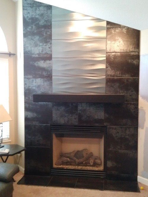 36 Inch Steel Mantel Shelf For Fireplaces Or Home Decor