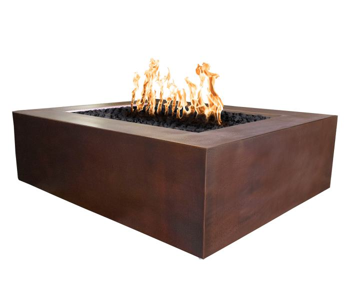 Quad Copper Outdoor Gas Fire Pit By Top