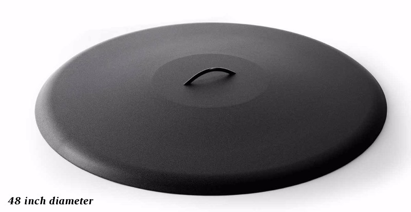 48 Inch Round Black Aluminum Fire Pit Cover Snuffer