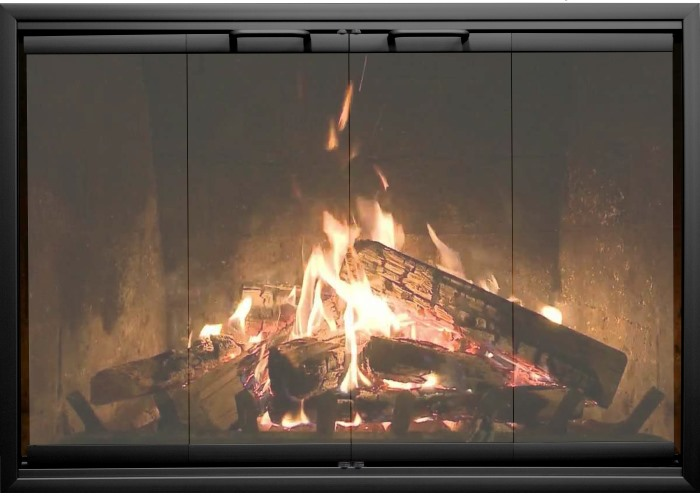 The glass in the Ragnarok Prefab Fireplace Door is covered with a lifetime warranty!