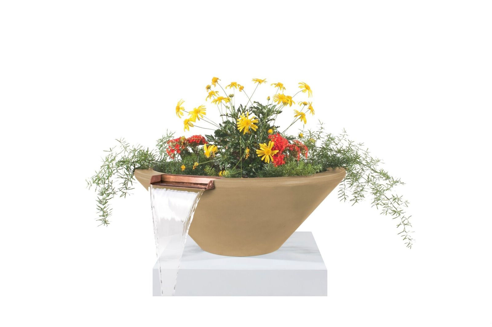 24 Inch Cazo Planter and Water Bowl