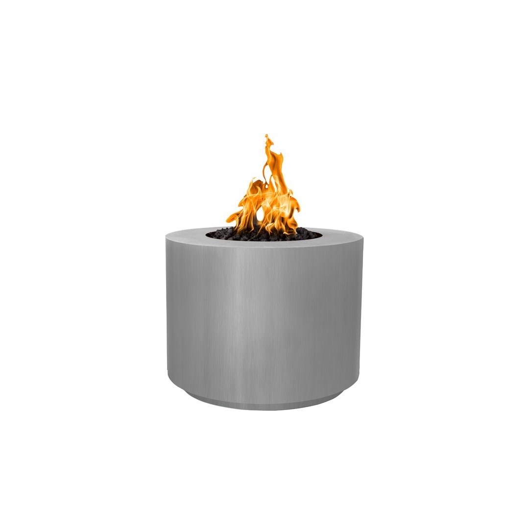 30 Inch Beverly Stainless Steel Gas Fire Pit By Top Fires