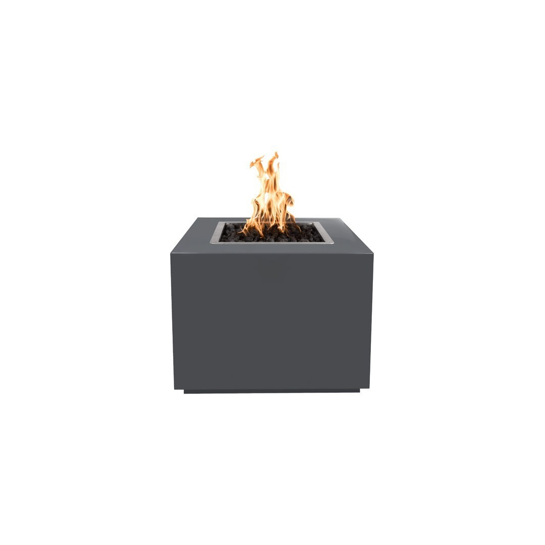 48 Inch Forma Propane Or Natural Gas Fire Pit In Hammered Copper Steel Finish
