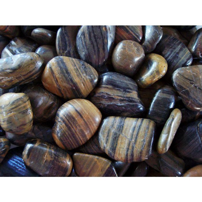 Polished Pebbles - Striped - 40lb Bag